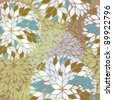 pattern with floral motifs - stock photo