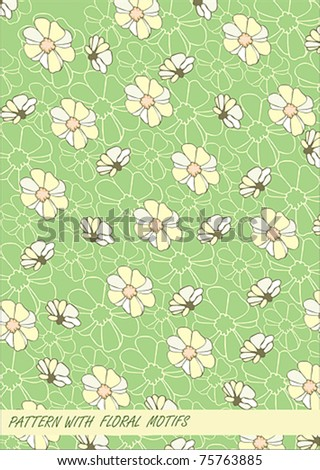 pattern with floral motifs
