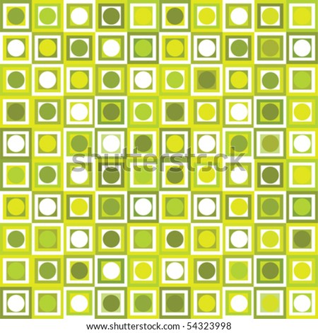 Pattern with geometrical shapes - stock vector