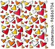 pattern with hearts - stock vector