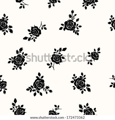 Pattern with roses - stock vector
