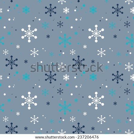 PATTERN with snowflakes - stock vector