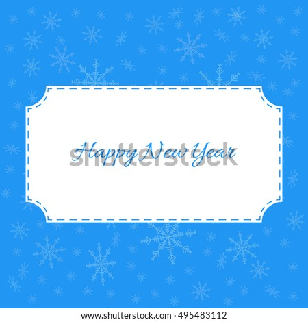 Pattern with snowflakes. Blue vector background.