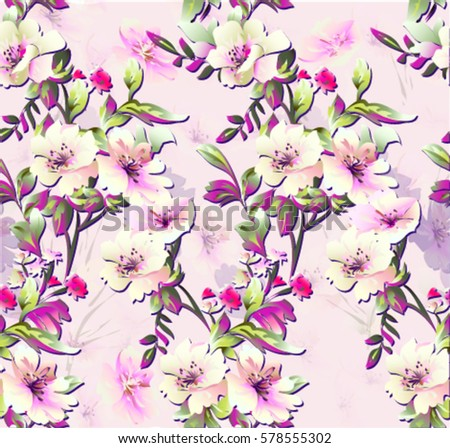 Pattern Spring Flowers On Background Small Stock Vector 578555302 ...