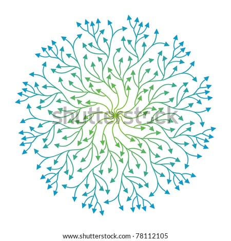 pattern with stylized bright arrows - stock vector