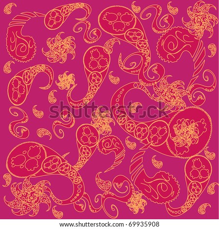 pattern with vivid elements