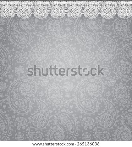 Patterned background with lace. Eps10 format - stock vector