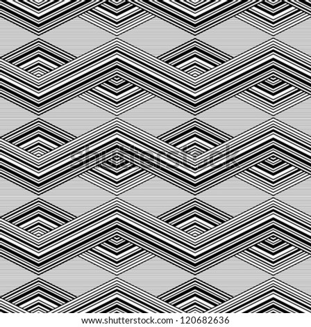 Patterns line black and white - stock vector