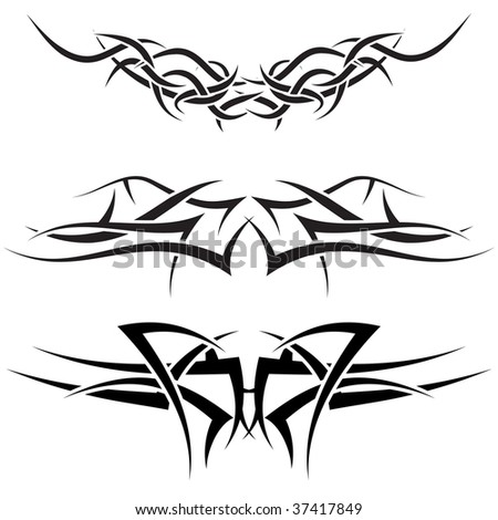 Patterns of tribal tattoo for design use - stock vector
