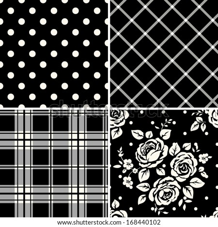 Patterns set - stock vector