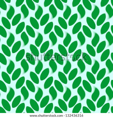 patterns, vector, art, backgrounds, green, seamless, leaf, wallpaper, decoration, plant, nature, - stock vector
