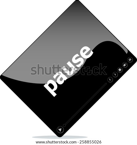 pause on media player interface - stock vector