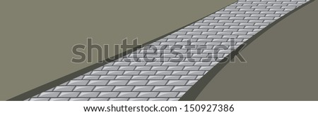 Paving stone. Background. Vector