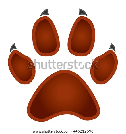 paw logo silhouette - stock vector