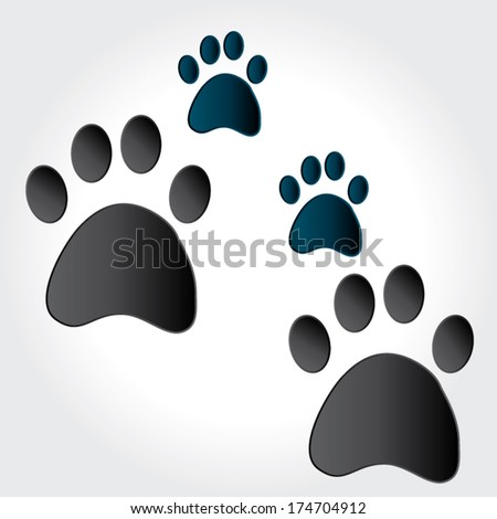 paw print animal. vector illustration