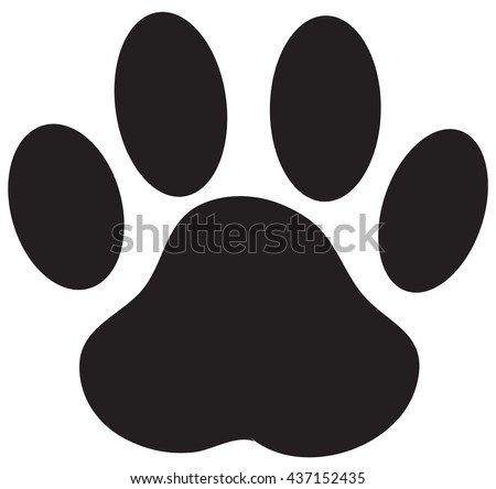 paw print dog paw vector stock vector 2018 437152435 shutterstock rh shutterstock com vector cat paw print vector paw print trail