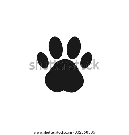 Paw Print. Flat design style eps 10 - stock vector