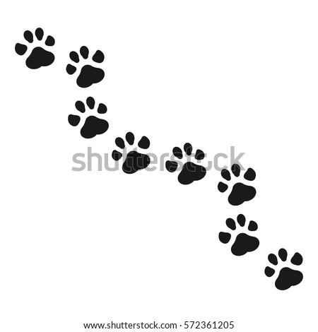 paw print vector illustration stock vector 2018 572361205 rh shutterstock com vector cat paw print vector dog paw print clip art free