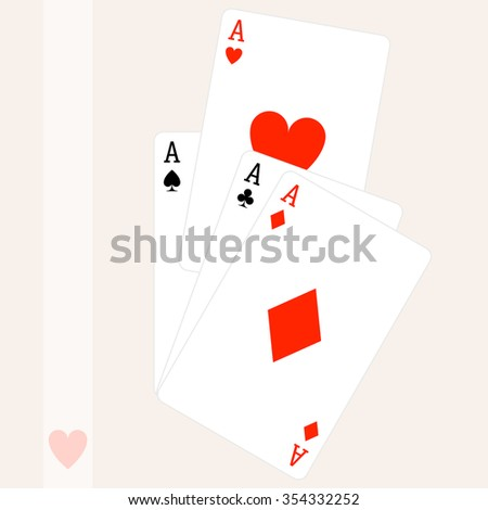 Paying Card Aces Vector Art