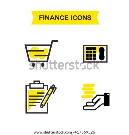 Payment and Tax Icon Template