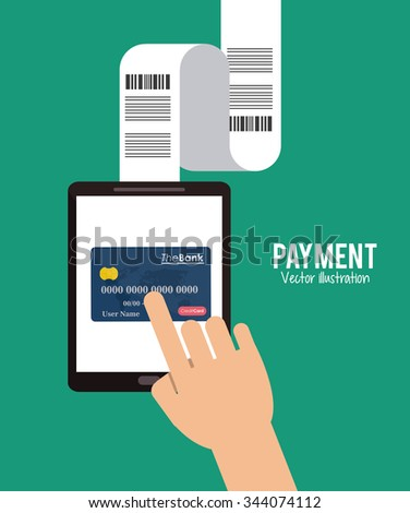 Payment concept with money design, vector illustration 10 eps graphic.