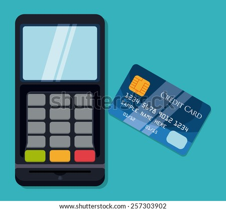 Payment design over blue background, vector illustration.