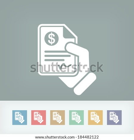 Payment document - stock vector