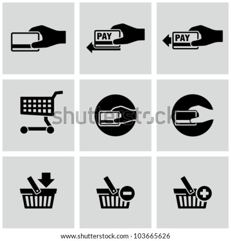 Payment icons set. E-commerce. - stock vector