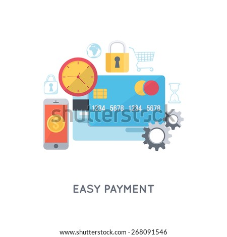 Payments and banking. Modern flat design template. Infographic background. - stock vector