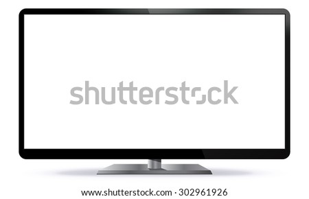 PC Monitor Vector Illustration - stock vector