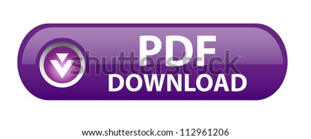 PDF download button - stock vector