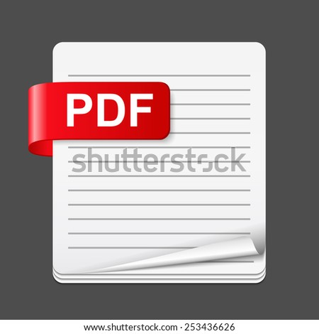 PDF file icon, vector eps10 illustration - stock vector