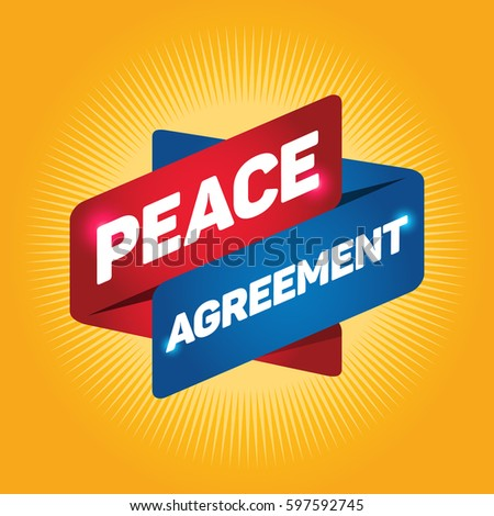Peace Agreement Arrow Tag Sign Stock Vector 597592745 Shutterstock