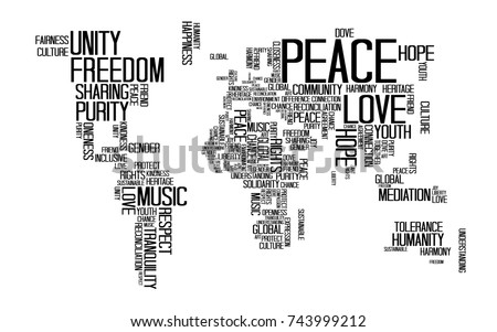 World map countries name text typography stock vector 452118019 peace concept text or typography with love happiness and peace wording in world map gumiabroncs Image collections