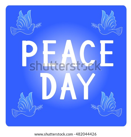 Peace day, peace dove, vector illustration, icon