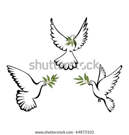 Peace dove - stock vector