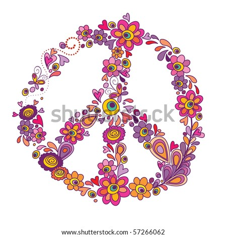 Peace flower symbol - stock vector
