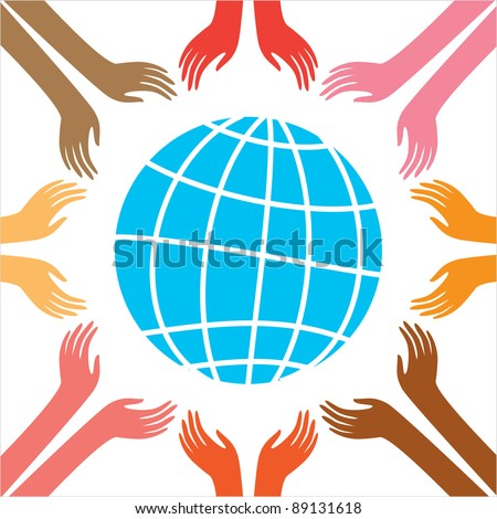 Peace for all people. Vector Illustration. The idea of ??the poster. - stock vector