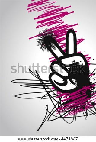 Peace Hand, vector - stock vector