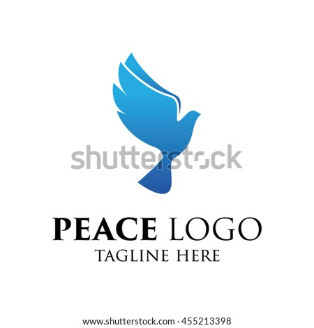 Peace Logo Template World Peace Symbol Stock Vector 455213398