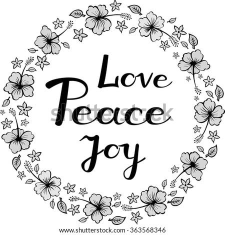 Peace Love and  Joy - stock vector