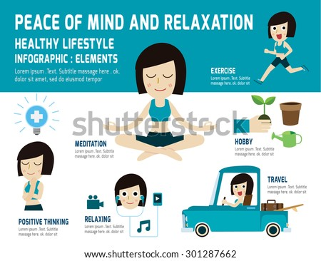 Peace of mind to relax healthy lifestyle.