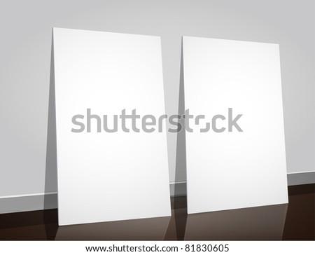 peace of paper on the floor corner vector illustration - stock vector
