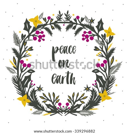Peace on Earth. Print Design - stock vector