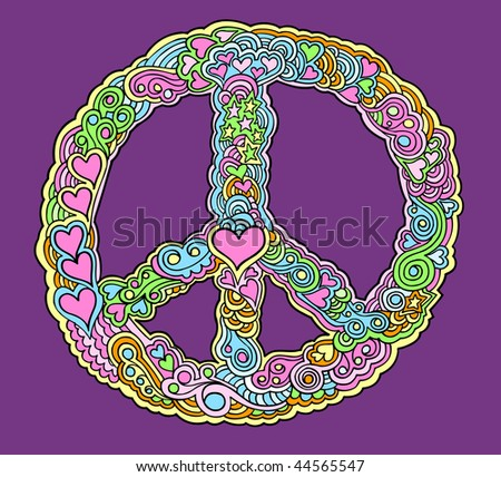 Cool peace and love vector images