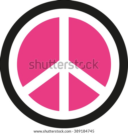peace sign inverted pink stock vector 389184745 shutterstock rh shutterstock com peace sign vector png peace sign vector png