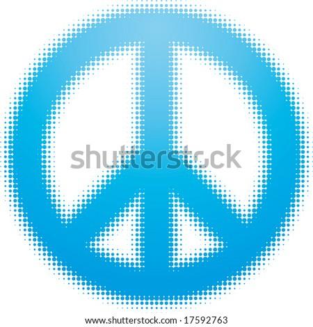 peace symbol (dots design series) - stock vector