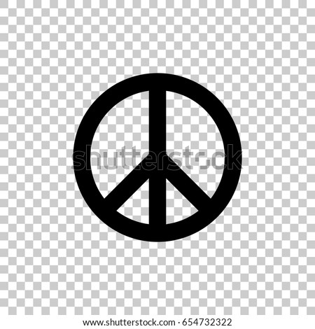 Peace Symbol Isolated On Transparent Background Stock Vector