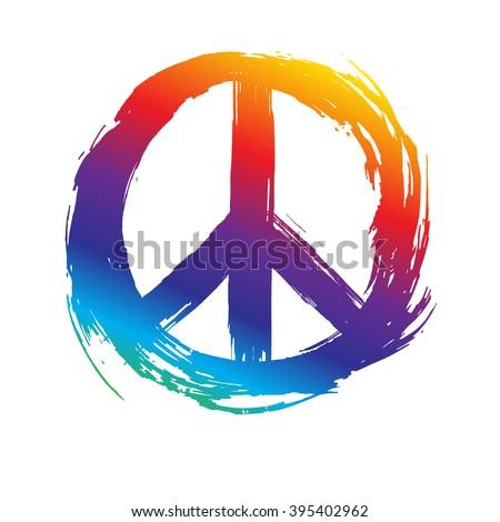 Peace Symbol Peace Hippie Symbol Stock Vector 395402962 Shutterstock