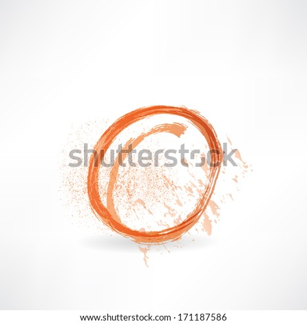 peach icon - stock vector